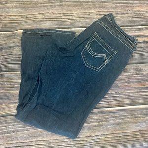 ANGELS Dark Wash Contrast Stitch Jeans 20 Ins. 30